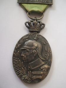 Medalla de Marruecos. En plata para Jefes y oficiales. Anverso.  Fuente: Colección A. Rodríguez Belles